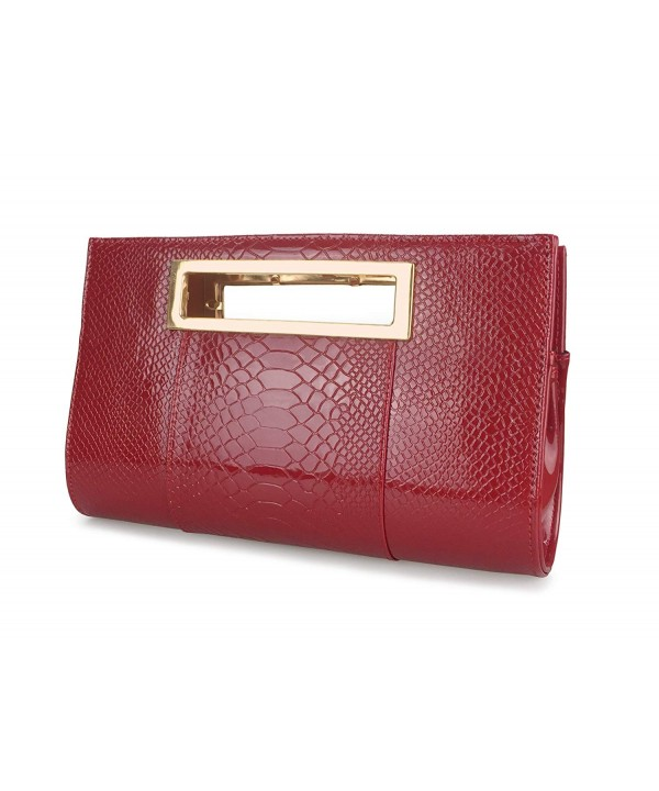 Hoxis Classic Crocodile Shoulder Burgundy
