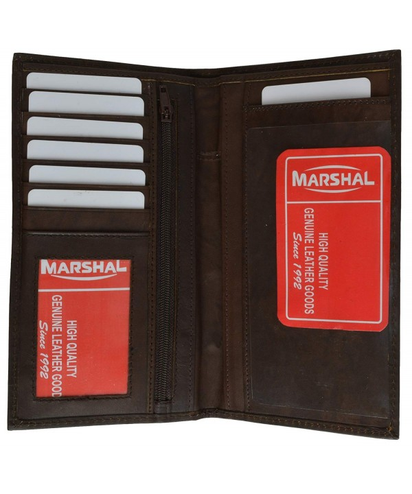 Marshal Wallet Unisex Leather Checkbook