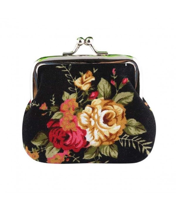Elegant Purse Vintage Flower Wallet