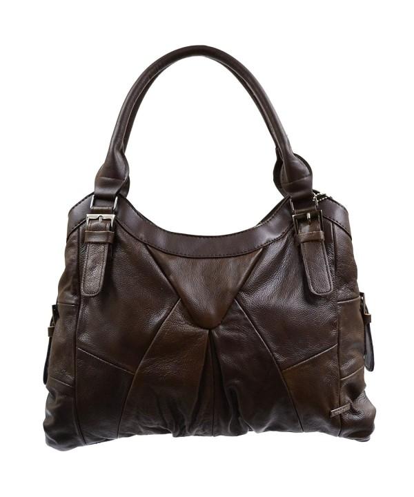 Ladies Practical Leather Handbag Buckle
