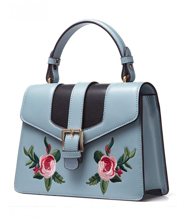 LAFESTIN Leather Handbags Embroidered Shoulder