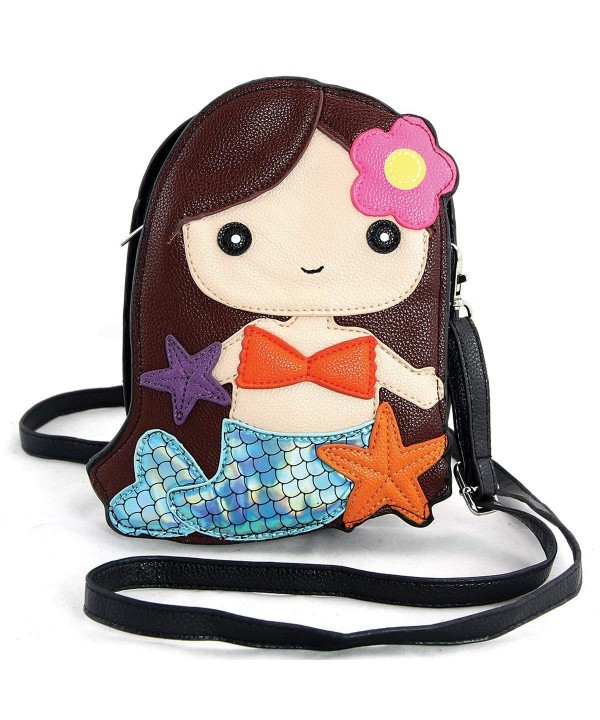 Adorable Mermaid Shoulder Crossbody Brown
