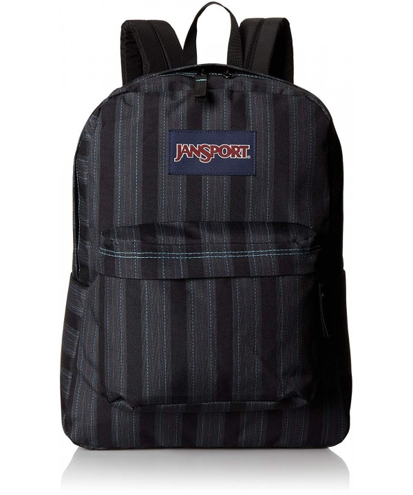 JanSport Superbreak Backpack Mammoth Pinstripe
