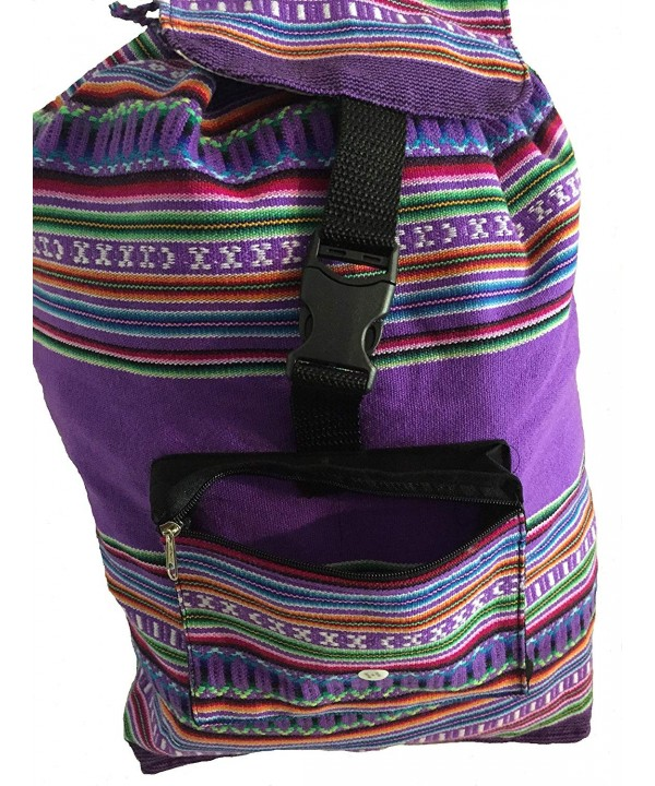 Peruvian Arts PABP PURRNBW Backpack Purple Rainbow