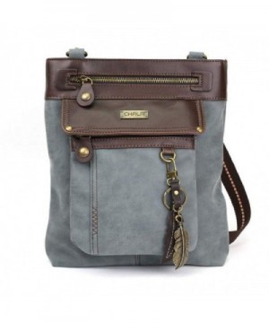 GEMINI Crossbody Leather Messenger Feather