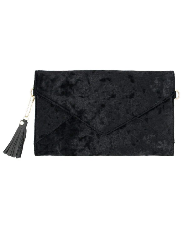 Premium Crushed Velvet Envelope Evening