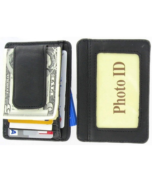 Leather Wallet Credit Holder Pocket