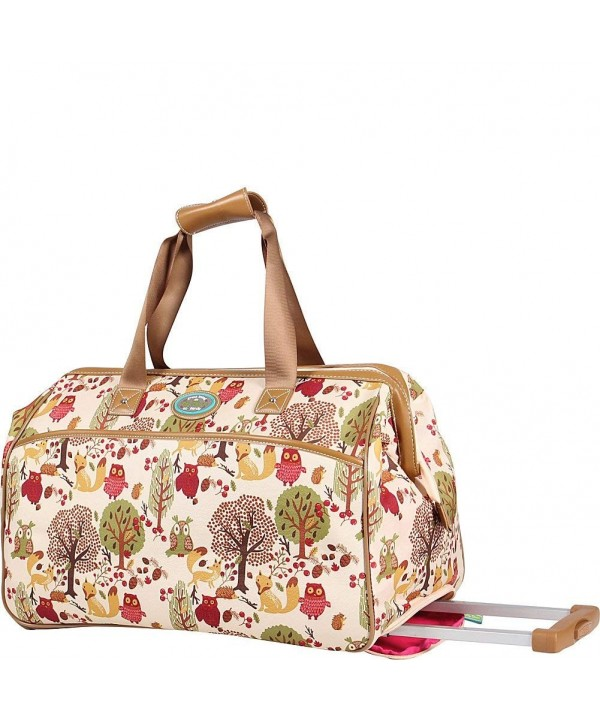 Lily Bloom Wheeled Duffel Forest