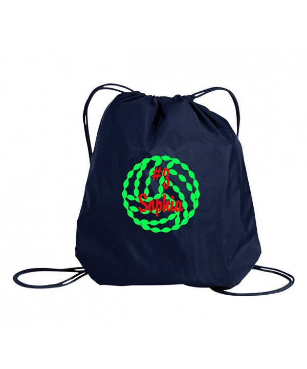 Volleyball Personalized Drawstring Cinch Backpack