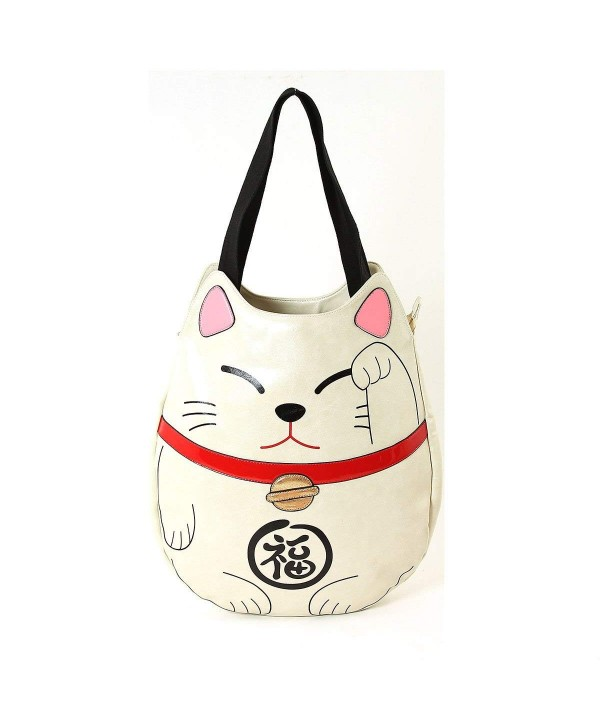 Lucky Cat Vinyl Tote Bag