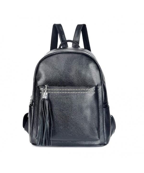 DSLONG Backpack Leather Rucksack Shoulder