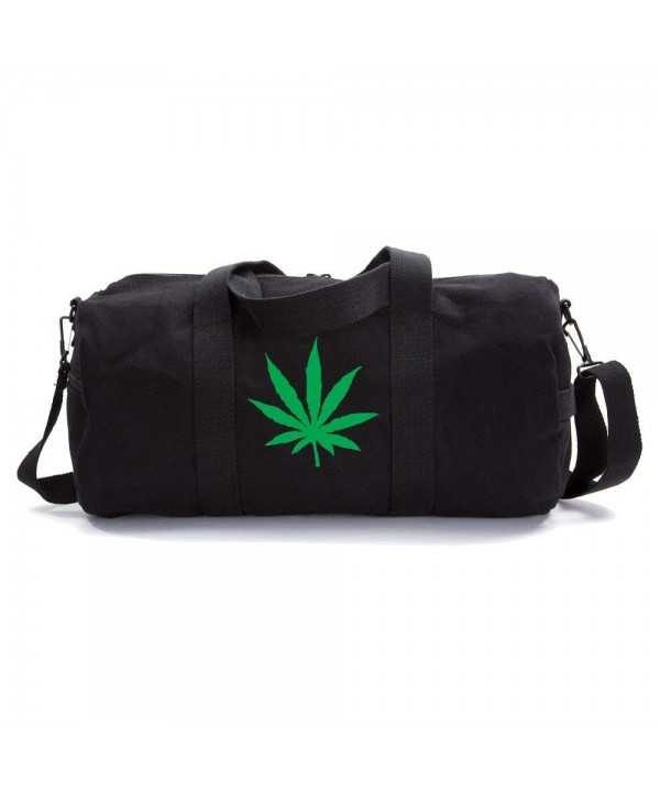 Marijuana Heavyweight Canvas Duffel Black