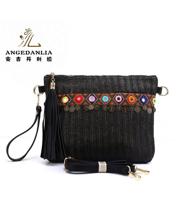 Straw Crossbody Bag Angedanlia Handmade