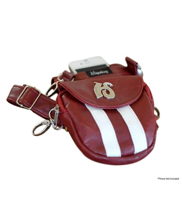 Hipzbag Red Sporty Faux Leather