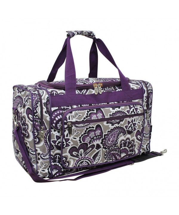 Purple Paisley NGIL Canvas Duffle