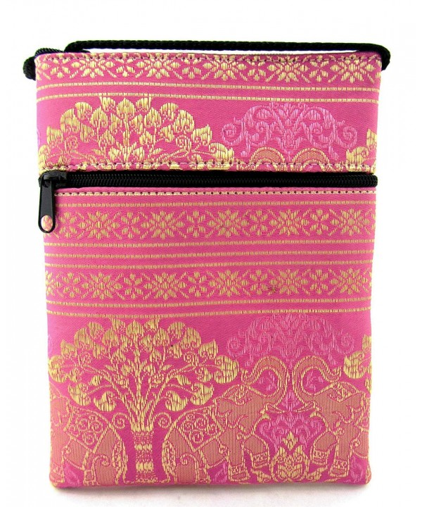 Crossbody Cellphone Elephant Pink Champagne