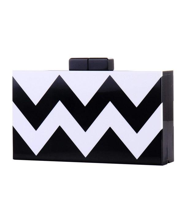 Striped Acrylic Perspex Hardcase Handbags