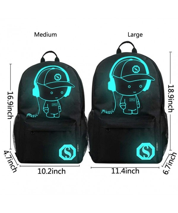 Laptop Backpack Charging Bookbag Luminous