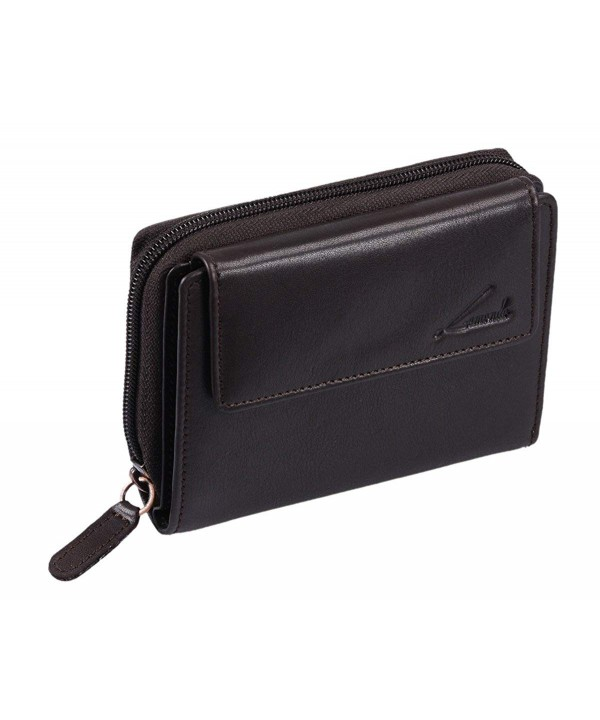 Avanco Womens Leather Zipper Wallet