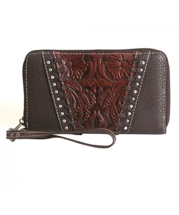 Montana West Accordion Wristlet Whipstitched