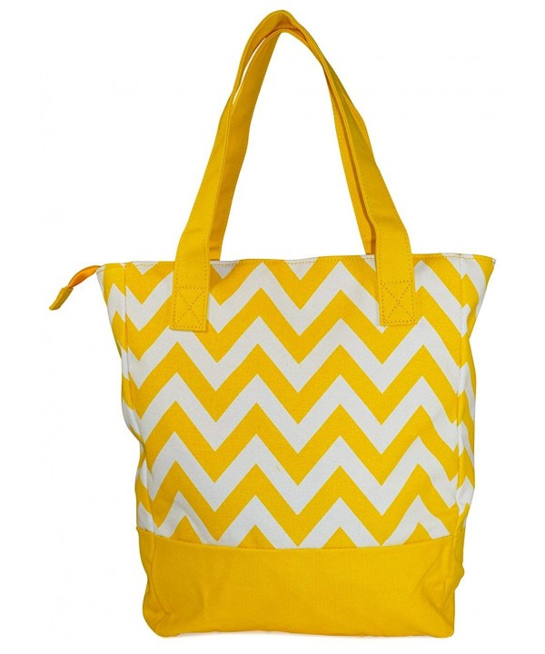 Ever Moda Chevron Canvas Yellow