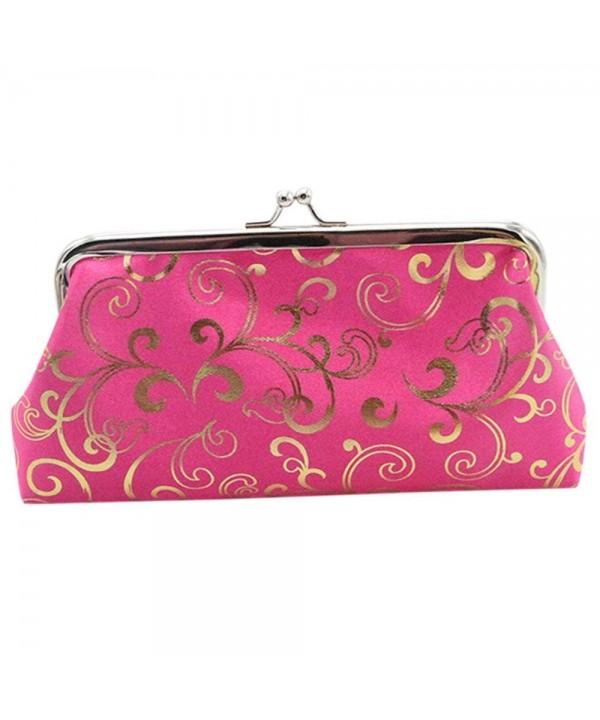 Women Floral Exquisite Clasp Wallet
