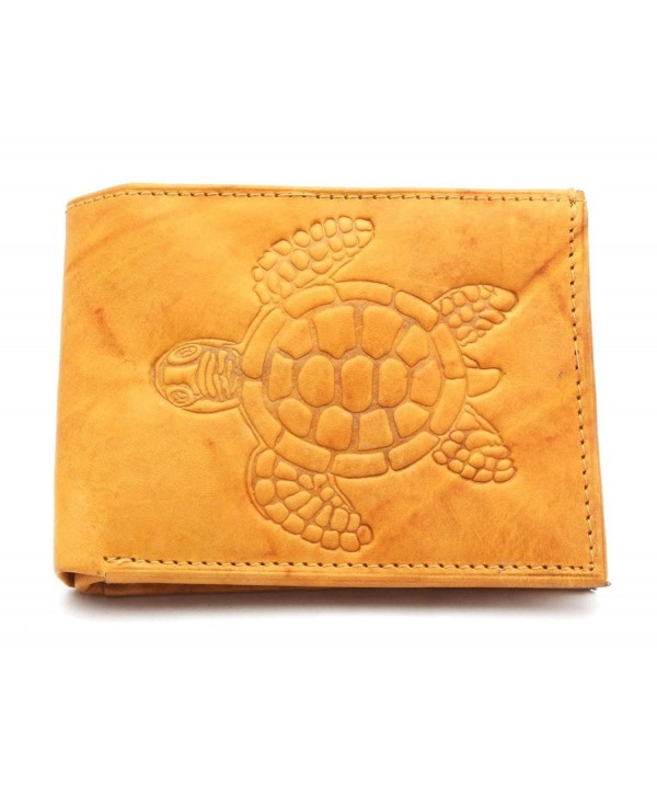 Bifold Compact Leather Wallet Embossed