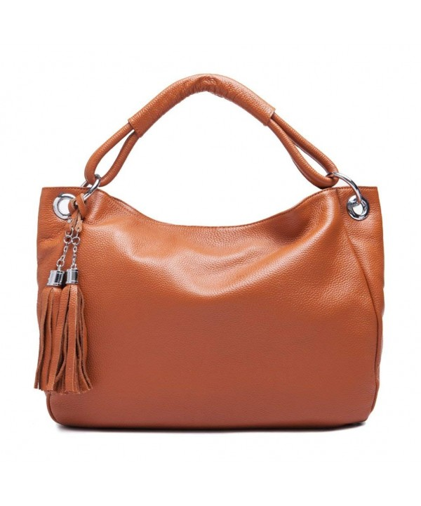 IuhaTop Leather Tassel Satchel Shoulder