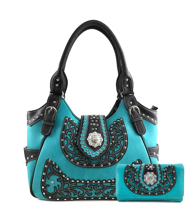 Justin West Concealed Embroidery Rhinestone