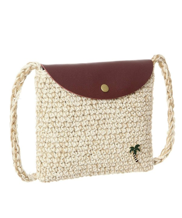 Straw Weave Shoulder Crossbody Womens