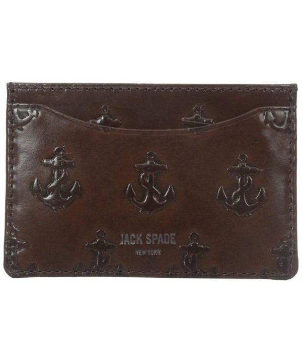 Jack Spade Embossed Anchor Chocolate