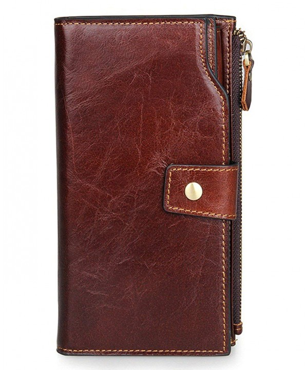 SAIERLONG Coffee Cowhide Wallet Multiple