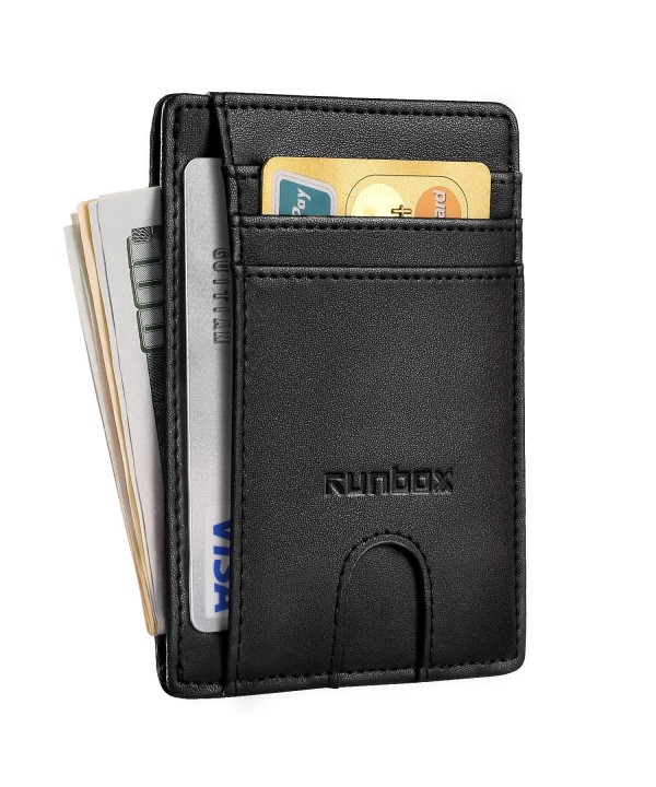 Minimalist Wallets Blocking Genuine Leather