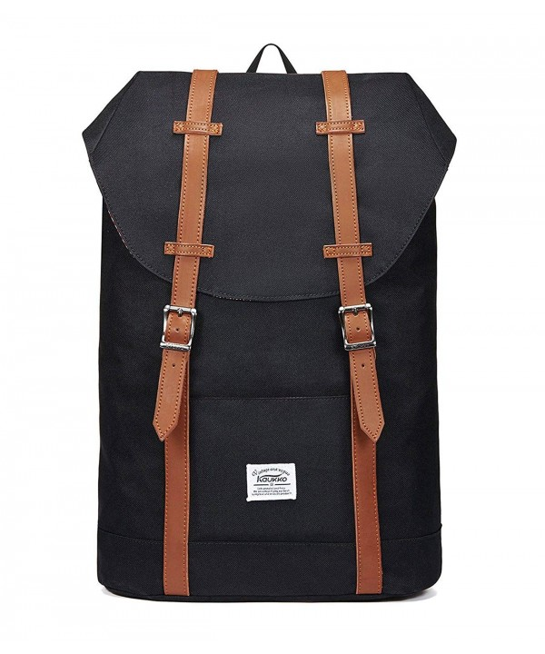 Lightweight Backpack Rucksack KAUKKO NYLON BLACK