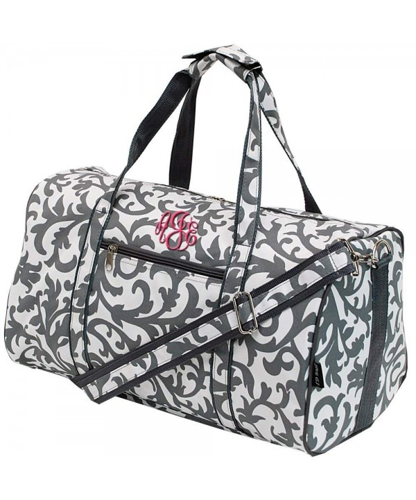Personalized Damask Medium Travel Duffle