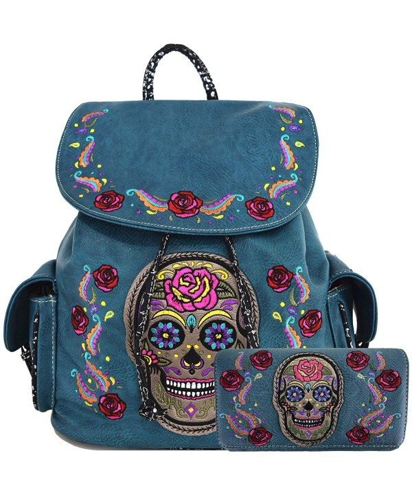 Daypack Concealed Backpack Fashion Turquoise