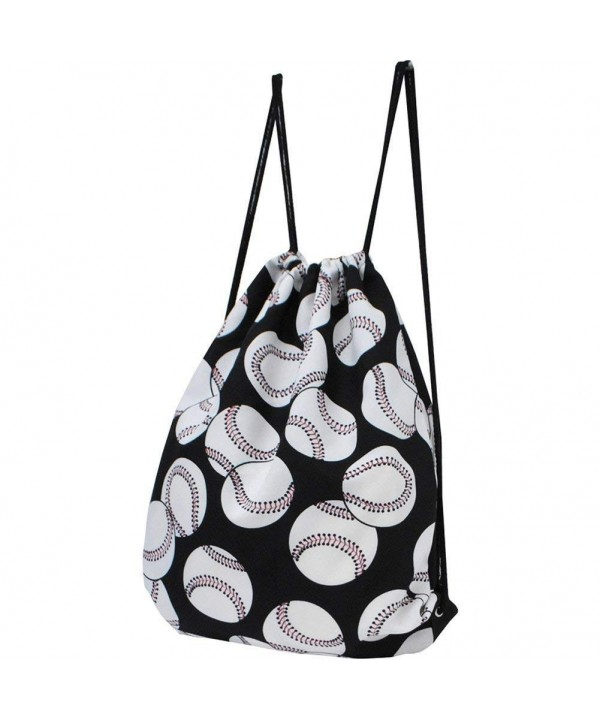 Baseball Print NGIL String Backpack