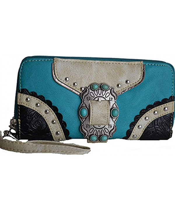 Western Buckle Turquoise Cowgirl Clutch
