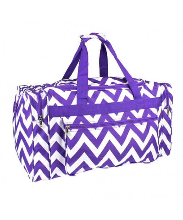 Chevron Duffle Travel Monogram Purple