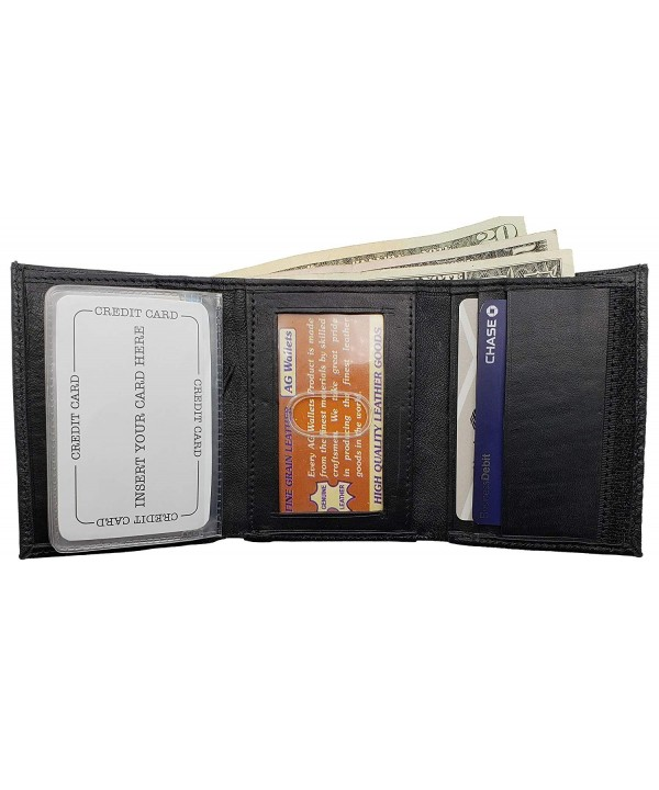 AG Wallets Leather Tri fold Closure