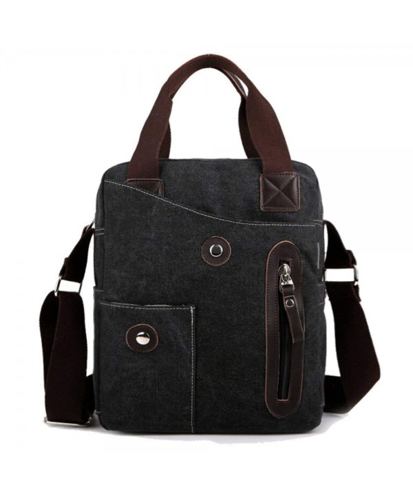 Canvas Messenger Bag Women Black