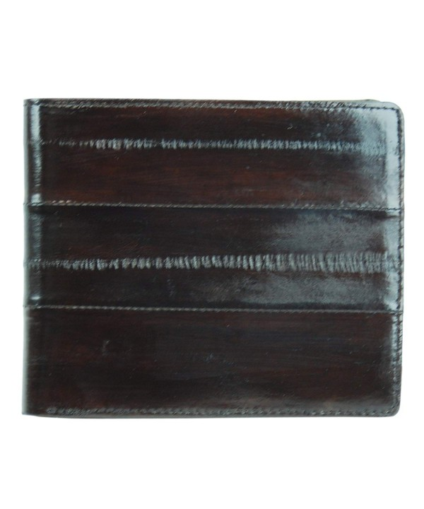 Leather Bifold Credit Brown Wallet