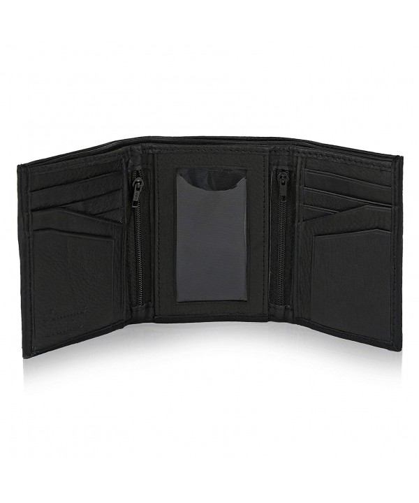Trifold Leather Wallet window removable