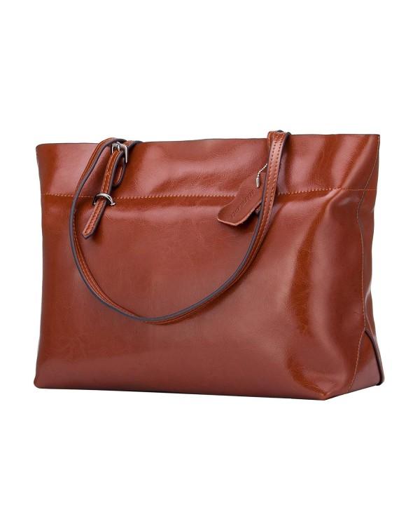 KEEPBLANCE Leather Satchels Handbags Shoulder