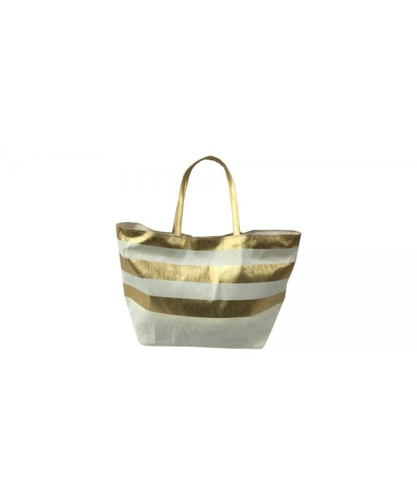 FashionIt Friendly Totes Metallic Stripes