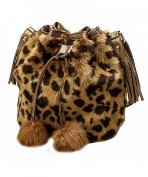 Shoulder Handbag Bucket Drawstring Leopard