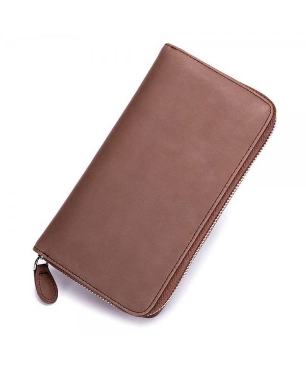 Vintage Leather Blocking Credit Holder