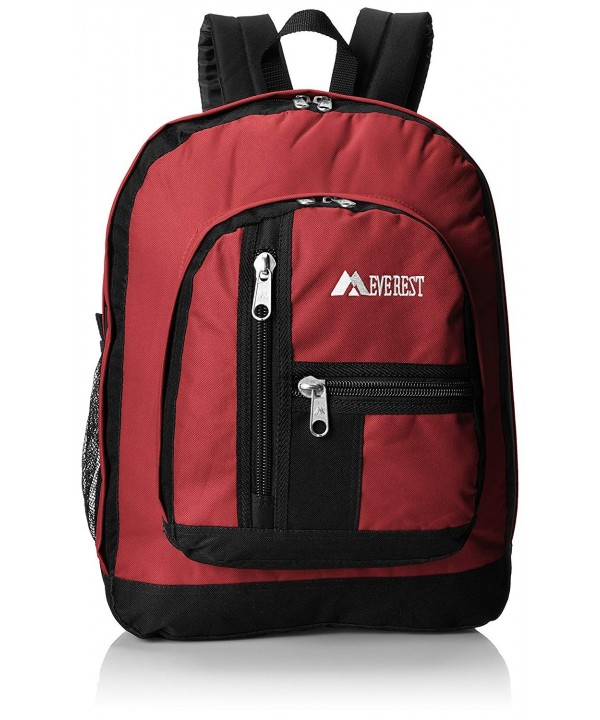 Everest Double Compartment Backpack Burgandy x