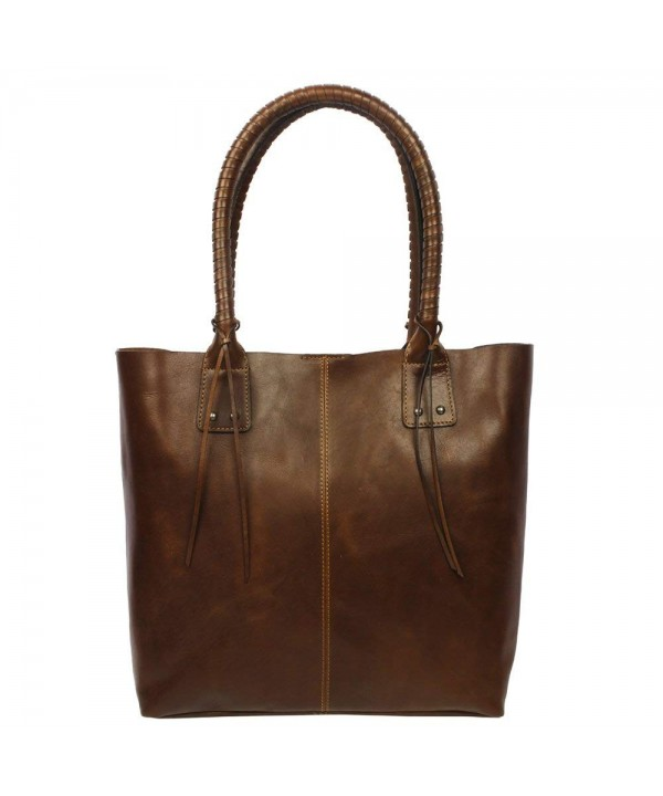 Womens Leather Tote Shopper Zoa