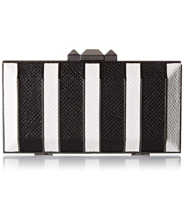 Estela Striped Metal Hard Clutch